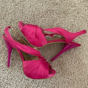 Hot pink McKenna heels by Kate Preston